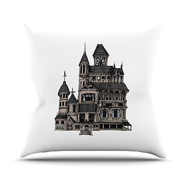 KESS InHouse House of Usher by Sophy Tuttle Haunted Throw Pillow; 20'' H x 20'' W x 4'' D