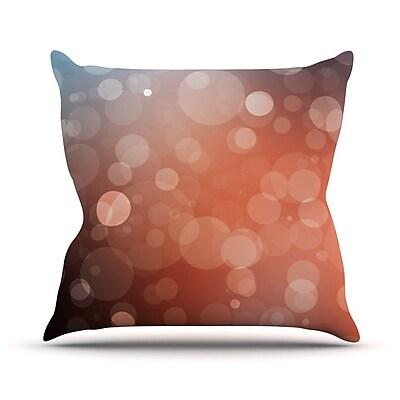 KESS InHouse Sunset Bokeh Throw Pillow; 20'' H x 20'' W x 4'' D