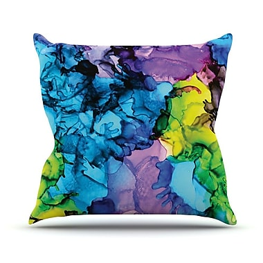 KESS InHouse Mermaids by Claire Day Paint Throw Pillow; 20'' H x 20'' W x 1'' D