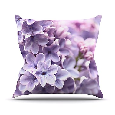 KESS InHouse Lilac by Sylvia Cook Flowers Throw Pillow; 26'' H x 26'' W x 5'' D