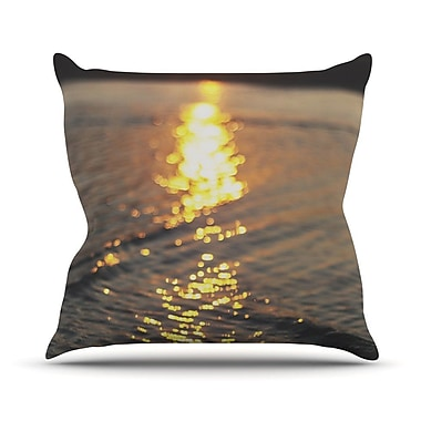 KESS InHouse Still Waters by Libertad Leal Sunset Throw Pillow; 16'' H x 16'' W x 3'' D