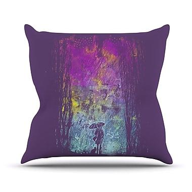 KESS InHouse Purple Rain Throw Pillow; 20'' H x 20'' W x 1'' D