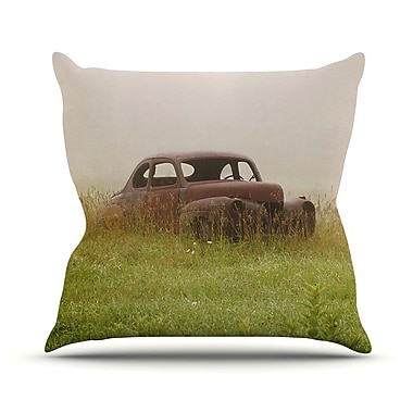 KESS InHouse Forgotten Car by Angie Turner Grass Throw Pillow; 18'' H x 18'' W x 1'' D