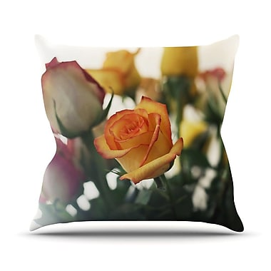 KESS InHouse Sweet Reminder by Beth Engel Flowers Throw Pillow; 18'' H x 18'' W x 1'' D