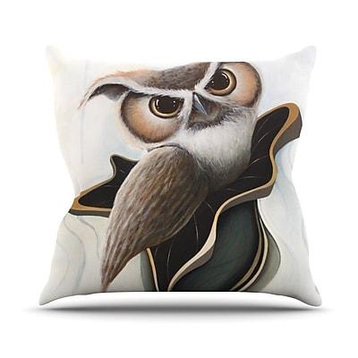 KESS InHouse Lucid June by Graham Curran Owl Throw Pillow; 26'' H x 26'' W x 1'' D