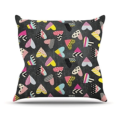 KESS InHouse Pieces of Heart by Louise Machado Throw Pillow; 18'' H x 18'' W x 3'' D