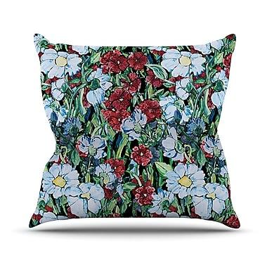 KESS InHouse Giardino by DLKG Design Garden Flowers Throw Pillow; 20'' H x 20'' W x 1'' D