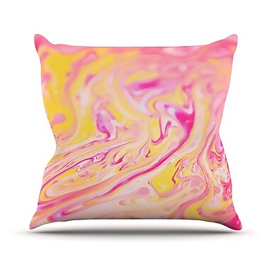 KESS InHouse Bubble Gum by Ingrid Beddoes Throw Pillow; 18'' H x 18'' W x 3'' D