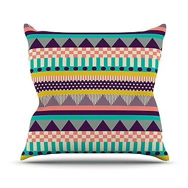 KESS InHouse Decorative Stripes by Louise Machado Throw Pillow; 16'' H x 16'' W x 3'' D