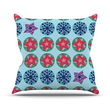 KESS InHouse Seasons Winter by Jane Smith Throw Pillow; 18'' H x 18'' W x 3'' D