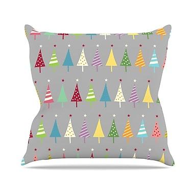 KESS InHouse Crazy Trees by Snap Studio Rainbow Throw Pillow; 26'' H x 26'' W x 5'' D