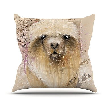 KESS InHouse Llama Me by Geordanna Cordero-Fields Throw Pillow; 16'' H x 16'' W x 1'' D