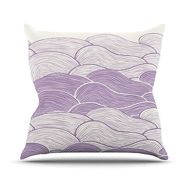 KESS InHouse The Lavender Seas by Pom Graphic Waves Throw Pillow; 16'' H x 16'' W x 3'' D