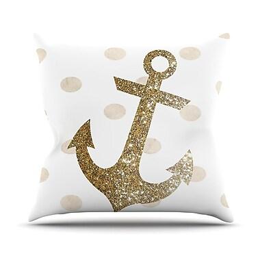 KESS InHouse Glitter Anchor by Nika Martinez Sparkles Throw Pillow; 20'' H x 20'' W x 4'' D