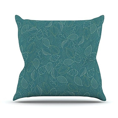 KESS InHouse Autumn Leaves by Emma Frances Throw Pillow; 20'' H x 20'' W x 1'' D