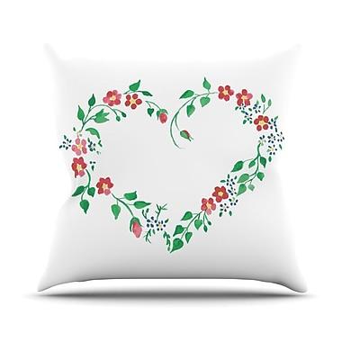 KESS InHouse Heart by Louise Throw Pillow; 16'' H x 16'' W x 3'' D
