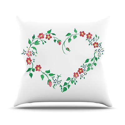 KESS InHouse Heart by Louise Throw Pillow; 20'' H x 20'' W x 4'' D