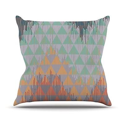 KESS InHouse Ikat Geometrie by Nika Martinez Throw Pillow; 18'' H x 18'' W x 3'' D