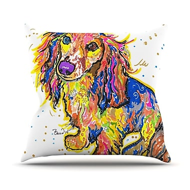 KESS InHouse Leela by Rebecca Fischer Daschund Throw Pillow; 16'' H x 16'' W x 3'' D