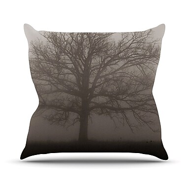 KESS InHouse Lonely Tree by Angie Turner Dark Fog Throw Pillow; 20'' H x 20'' W x 1'' D