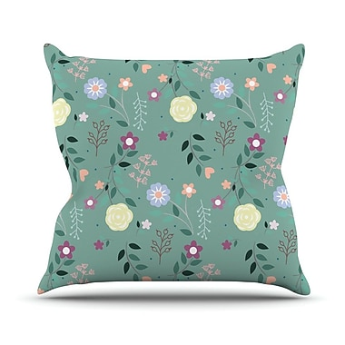 KESS InHouse Flora by Louise Flowers Throw Pillow; 26'' H x 26'' W x 5'' D