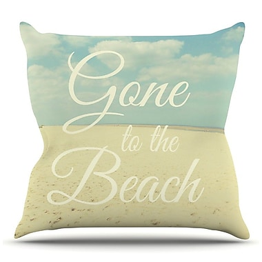 KESS InHouse Gone To The Beach by Alison Coxon Throw Pillow; 18'' H x 18'' W x 1'' D