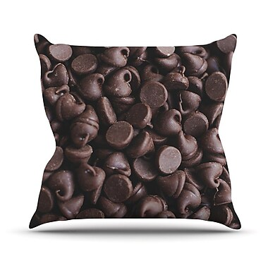 KESS InHouse Yay! Chocolate by Libertad Leal Candy Throw Pillow; 16'' H x 16'' W x 3'' D