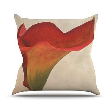 KESS InHouse Calla by Iris Lehnhardt Flower Throw Pillow; 18'' H x 18'' W x 3'' D