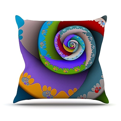 KESS InHouse Flor Essence by Michael Sussna Rainbow Spiral Throw Pillow; 26'' H x 26'' W x 5'' D
