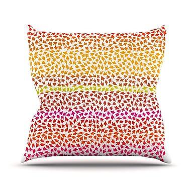 KESS InHouse Sunset Arrows by Sreetama Ray Abstract Throw Pillow; 26'' H x 26'' W x 5'' D