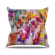 KESS InHouse Quantum Foam by Michael Sussna Rainbow Geometric Throw Pillow; 16'' H x 16'' W x 3'' D