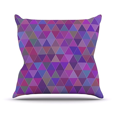KESS InHouse Abstract by Louise Throw Pillow; 16'' H x 16'' W x 3'' D