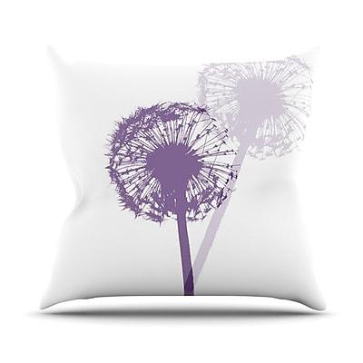 KESS InHouse Dandelion by Monika Strigel Flower Throw Pillow; 18'' H x 18'' W x 3'' D
