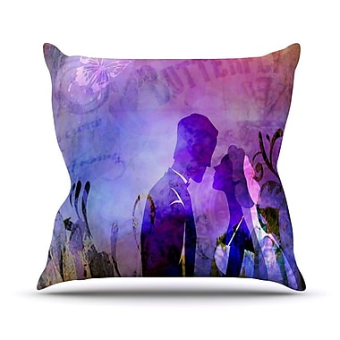 KESS InHouse Couple In Love by alyZen Moonshadow Throw Pillow; 20'' H x 20'' W x 1'' D