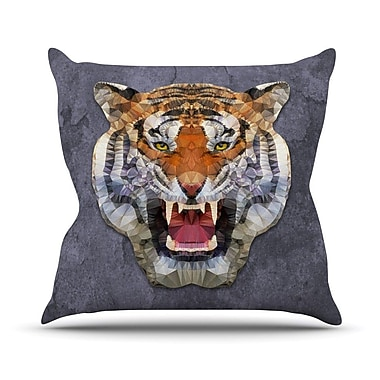 KESS InHouse Abstract Tiger by Ancello Throw Pillow; 16'' H x 16'' W x 1'' D