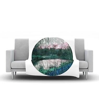KESS InHouse Swamp by Micah Sager Fleece Throw Blanket; 40'' H x 30'' W x 1'' D