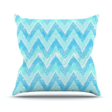 KESS InHouse Mint Snow Chevron by Marianna Tankelevich Chevron Throw Pillow; 16'' H x 16'' W x 3'' D