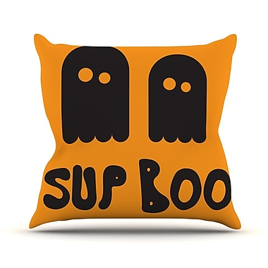KESS InHouse Sup Boo Throw Pillow; 16'' H x 16'' W x 3'' D