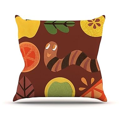 KESS InHouse Autumn Repeat by Jane Smith Bugs Throw Pillow; 16'' H x 16'' W x 3'' D
