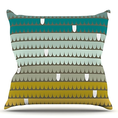 KESS InHouse Scallops by Pellerina Design Throw Pillow; 18'' H x 18'' W x 1'' D