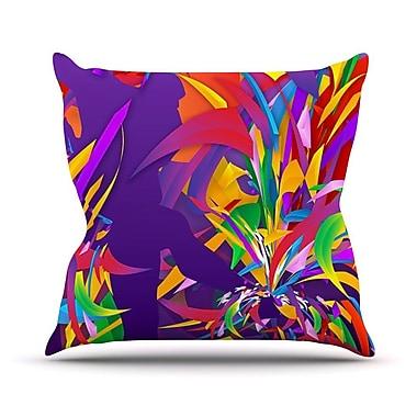 KESS InHouse Shooting by Danny Ivan Rainbow Throw Pillow; 20'' H x 20'' W x 1'' D