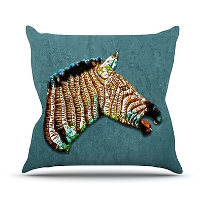 KESS InHouse Laughing Zebra by Ancello Throw Pillow; 20'' H x 20'' W x 1'' D