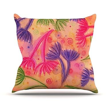 KESS InHouse Cow Parsley by Ebi Emporium Throw Pillow; 20'' H x 20'' W x 4'' D