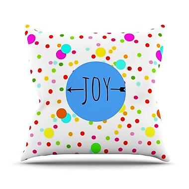 KESS InHouse Oh Joy by Sreetama Ray Rainbow Throw Pillow; 20'' H x 20'' W x 4'' D
