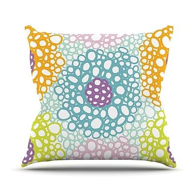 KESS InHouse Bubbly by Emine Ortega Throw Pillow; 26'' H x 26'' W x 1'' D