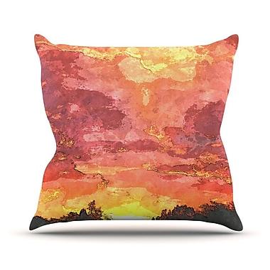 KESS InHouse Horizon by Oriana Cordero Sky Throw Pillow; 20'' H x 20'' W x 4'' D