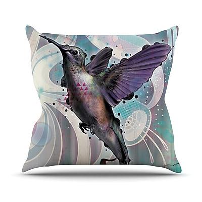 KESS InHouse Reaching by Mat Miller Hummingbird Throw Pillow; 26'' H x 26'' W x 5'' D