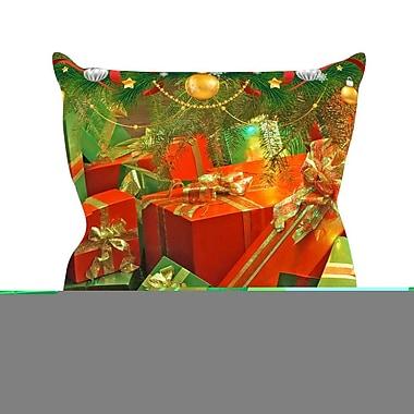 KESS InHouse Wrapped in Cheer by Snap Studio Presents Throw Pillow; 16'' H x 16'' W x 3'' D