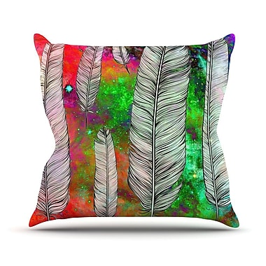 KESS InHouse Feather by Suzanne Carter Rainbow Space Throw Pillow; 20'' H x 20'' W x 4'' D