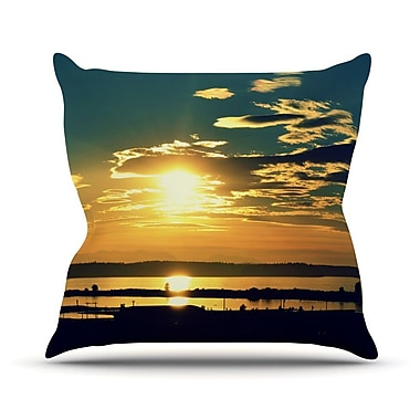 KESS InHouse Conquer Your World by Robin Dickinson Throw Pillow; 18'' H x 18'' W x 3'' D